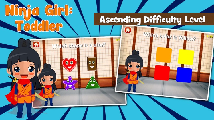 Ninja Girl Games for Toddlers screenshot-1