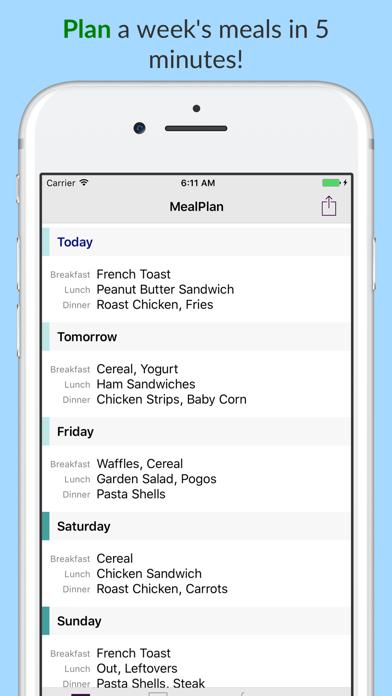 Mealplan review screenshots