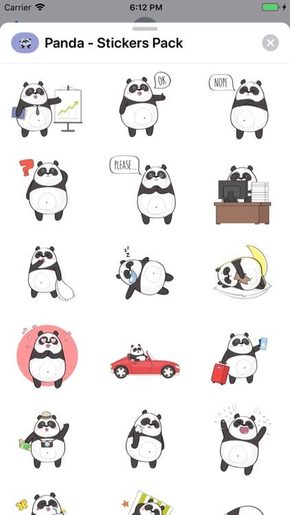 Panda - Stickers Pack screenshot-5