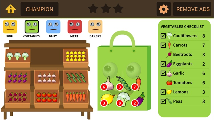 Grocery Game for 1st 2nd Grade screenshot-3