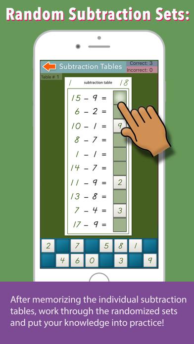 Montessori Subtraction Tables screenshot 4