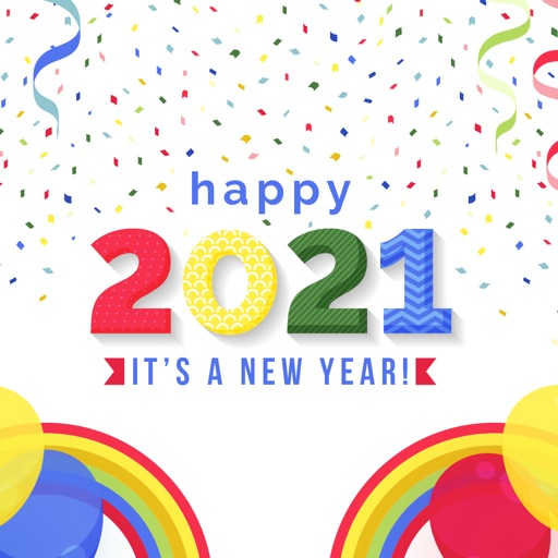 Happy New Year 2021 Stickers!