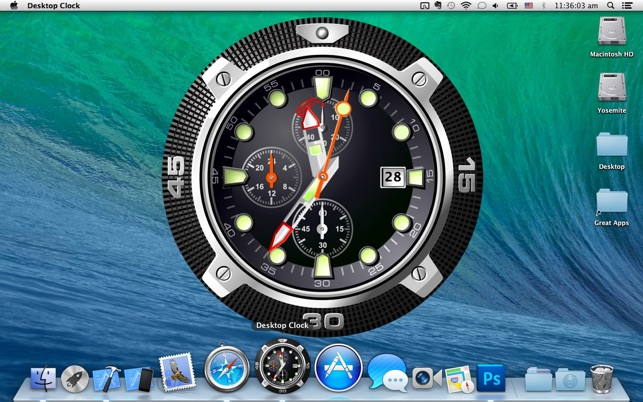 Desktop Clock Live on the Mac App Store
