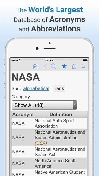 Acronym Finder screenshot-0