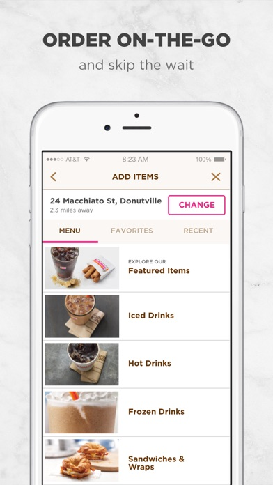 download Dunkin' Donuts apps 0