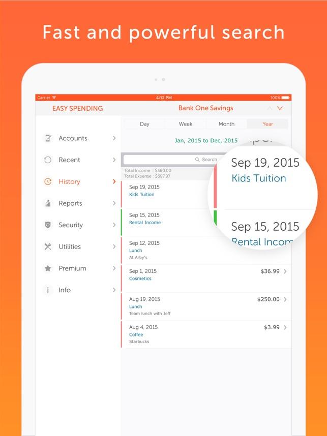 Easy Spending, Expense tracker Screenshot