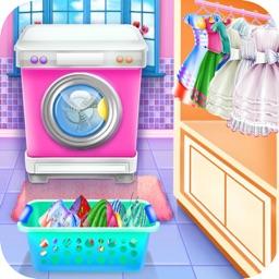 Olivias washing laundry game