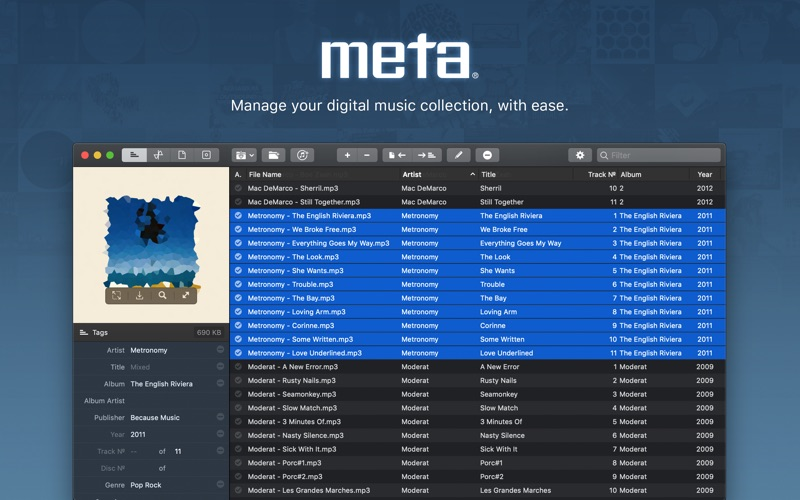 Meta – music tag editor Screenshots