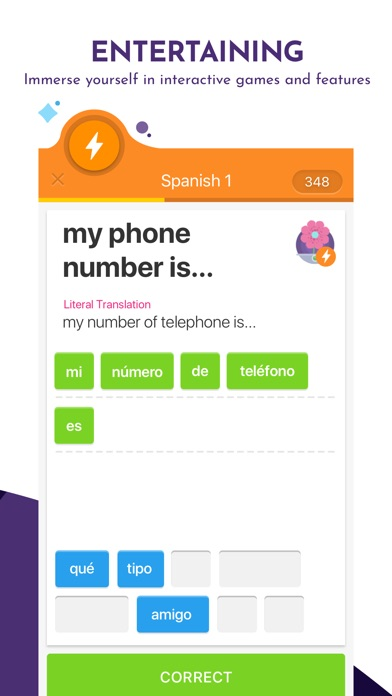 Screenshot for Learn Languages with Memrise in United States App Store