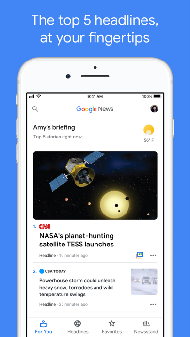 Google News iPhone