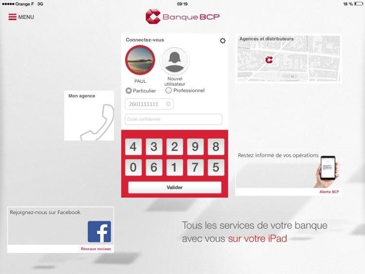 Banque BCP pour iPad