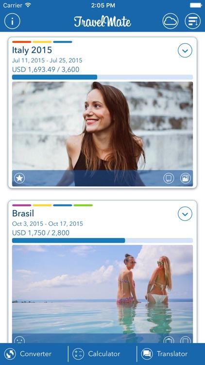 Travel Mate - Travel Expenses screenshot-0