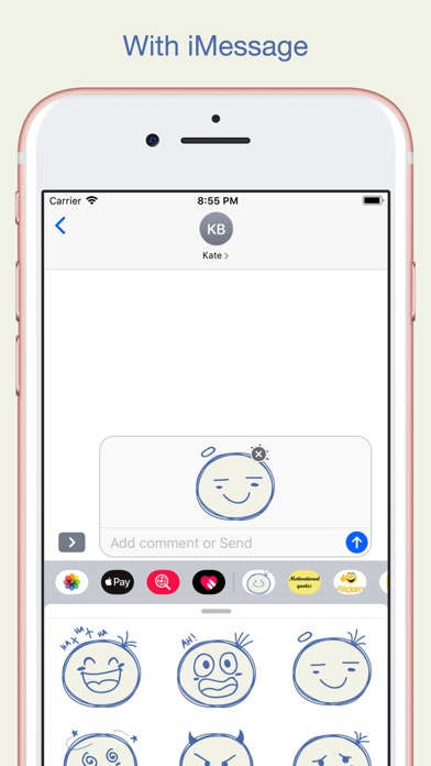 Sketch Smiley Emoji Stickers screenshot 3