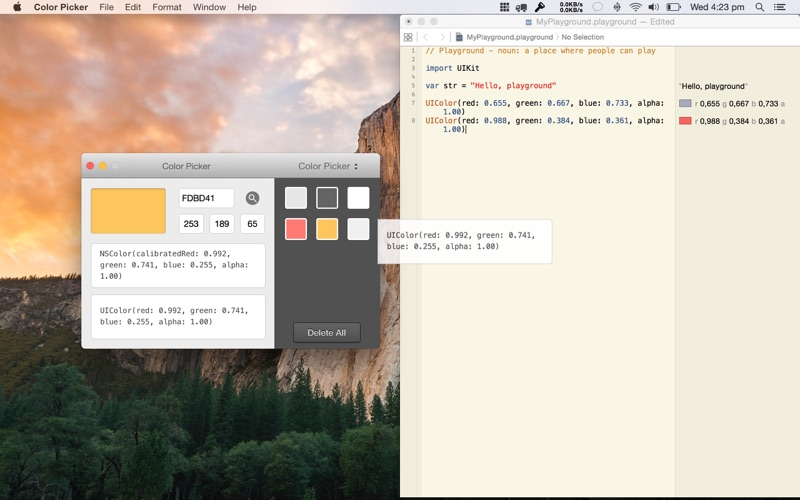 Color Picker for Mac