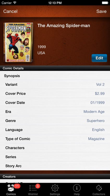 Comic Book Collector Database
