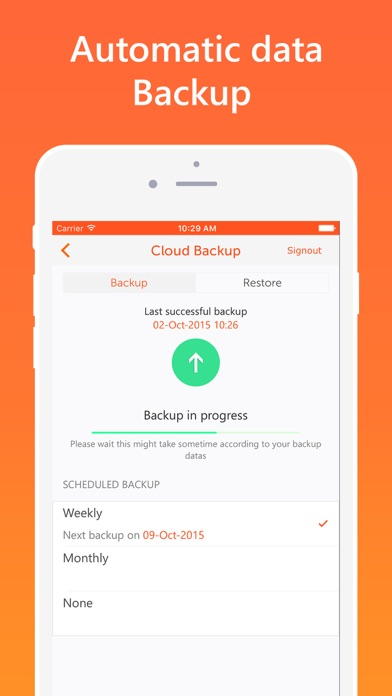 Screenshot #3 pour Easy Spending, Expense tracker