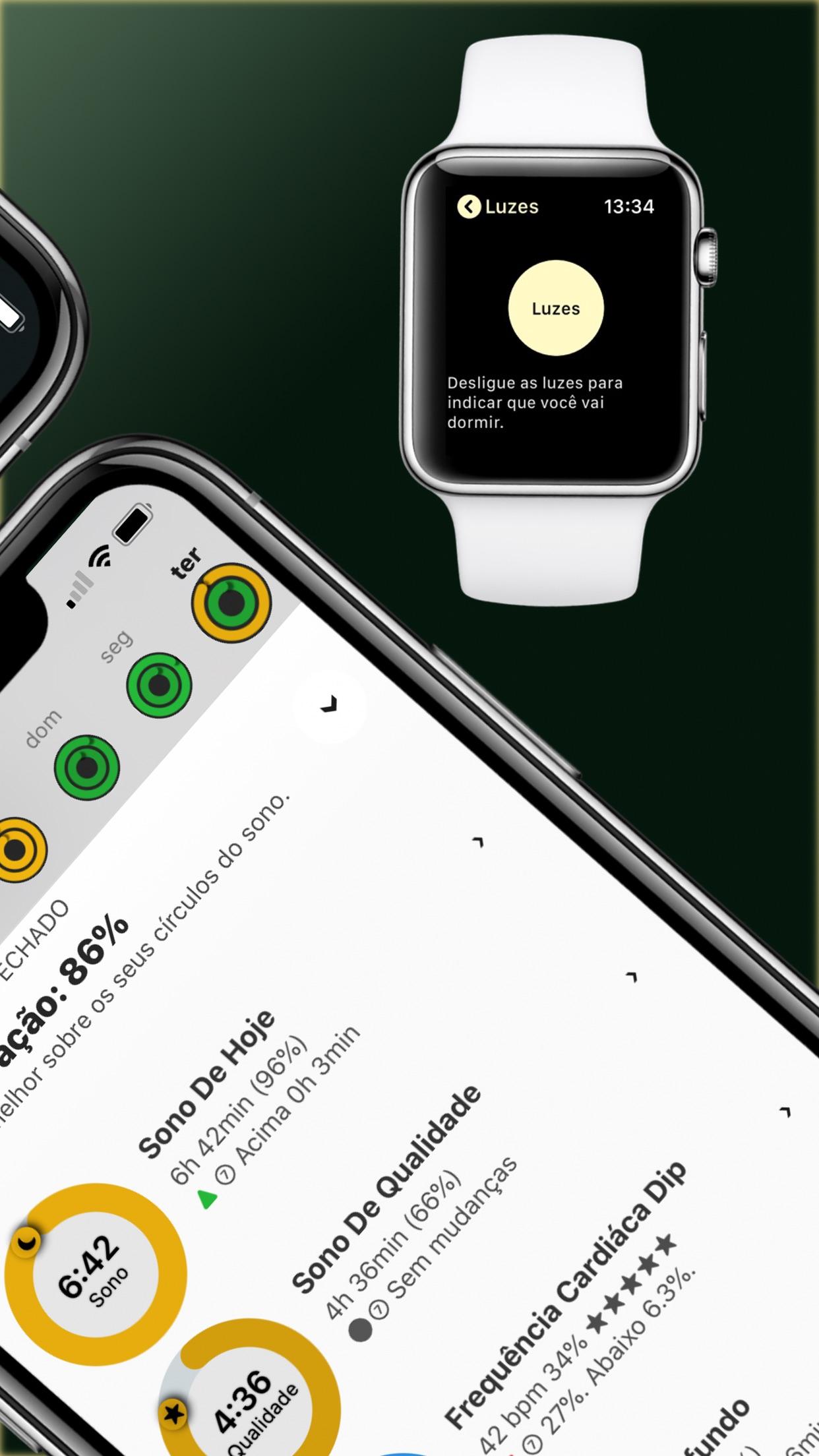 Screenshot do app AutoSleep. Monitore seu sono.