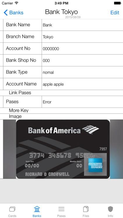 Card・Bank・Password Security