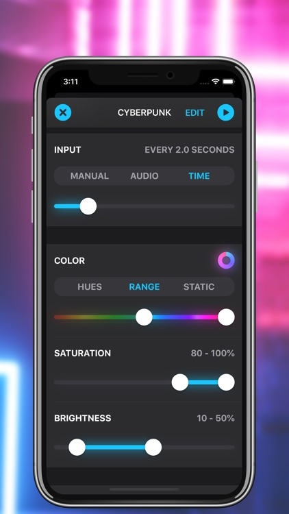 Neon for PhilipsHue & LIFX