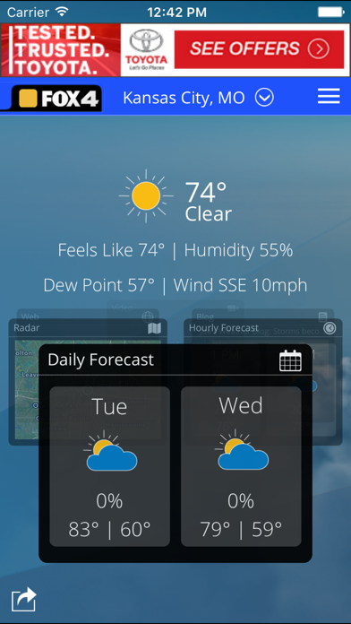 WDAF Fox 4 Kansas City Weatherのおすすめ画像1
