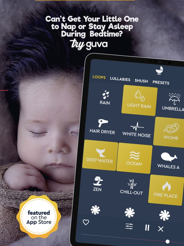 Baby Sleep Sounds - Guva Plus on the App Store