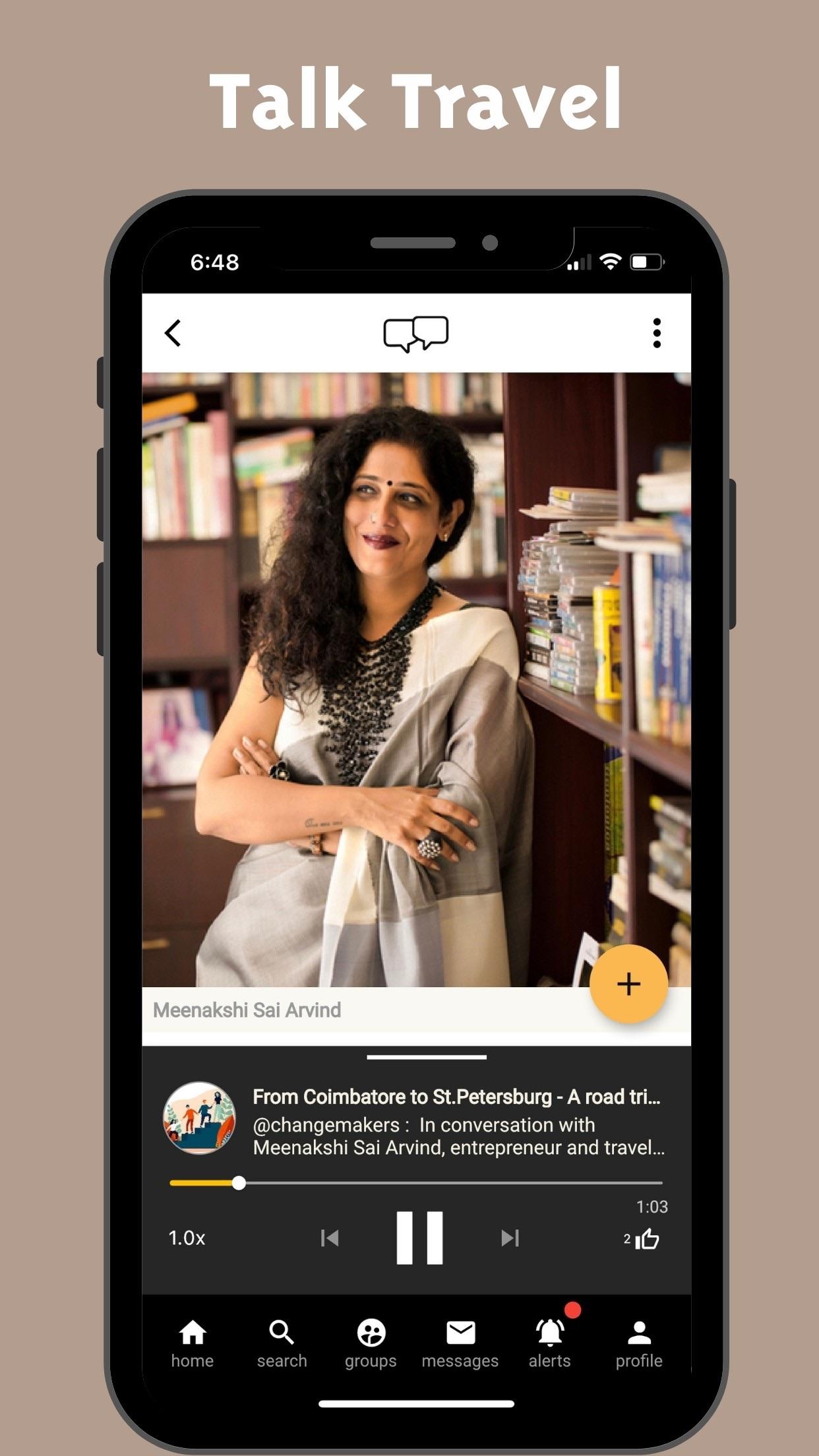Screenshot do app Swell