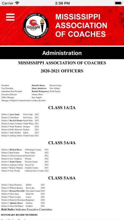 Mississippi Assoc. of Coaches screenshot-4