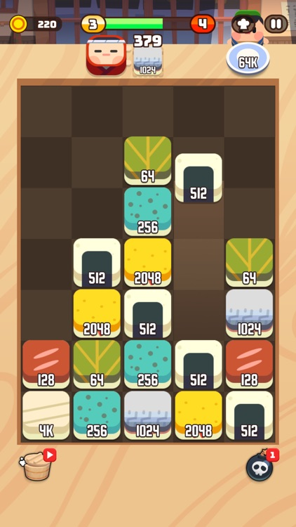 Sushi Drop : Merge Puzzle screenshot-4