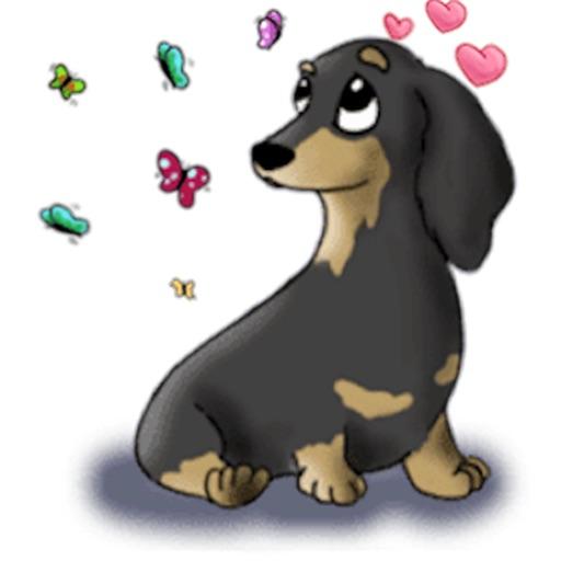 Cute Dachshund Dog Stickers
