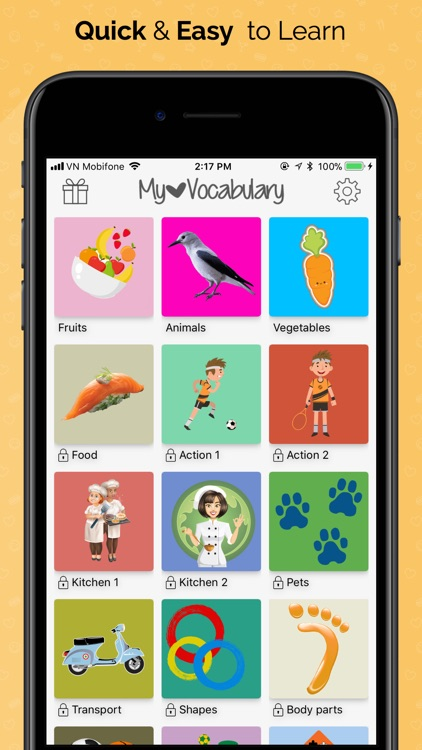 Vocabulary builder: Vocab Word