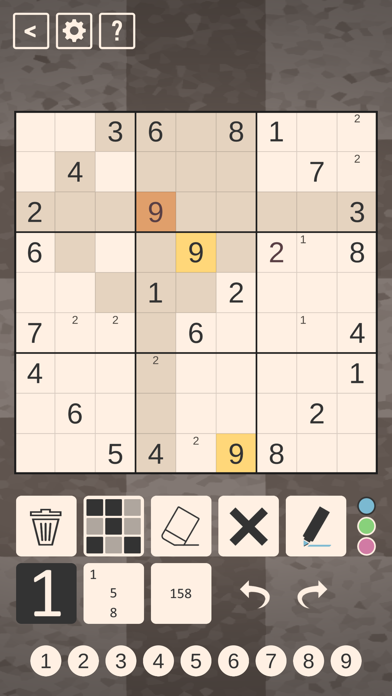 Chess Sudoku screenshot 1