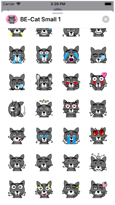 BE-Cat Small 1 Stickers Screenshot