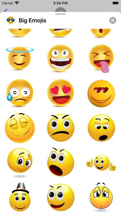 Big Emojis - Stickers screenshot-5