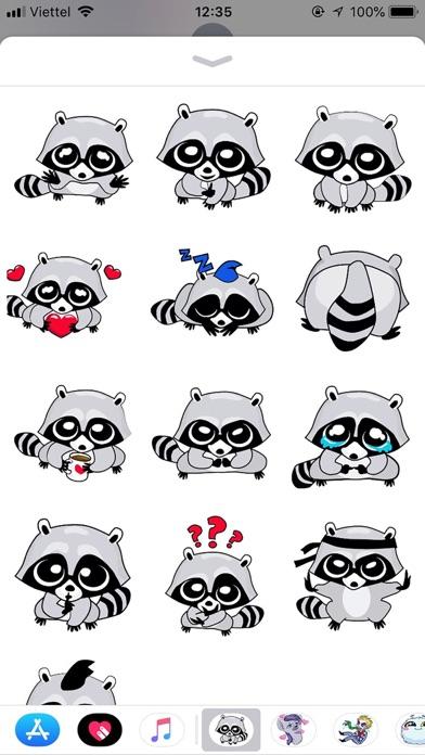 Raccoon Cute Funny Stickers screenshot 1