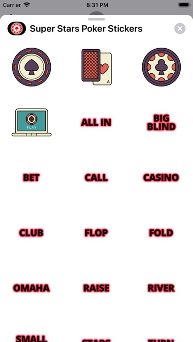 Super Stars Poker Stickers app image