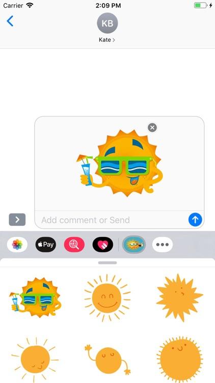 Sunshine Stickers Pack screenshot-4