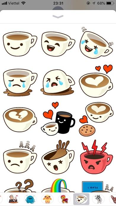 Cup Cute Pun Funny Stickers screenshot 1