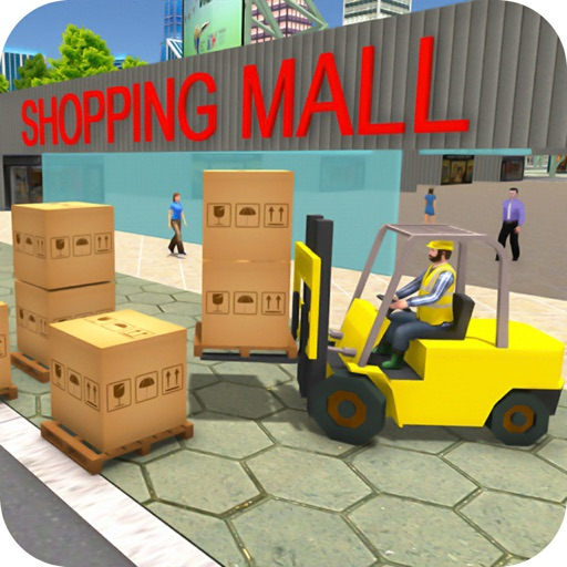 Mall Cargo Truck Forklift 3D