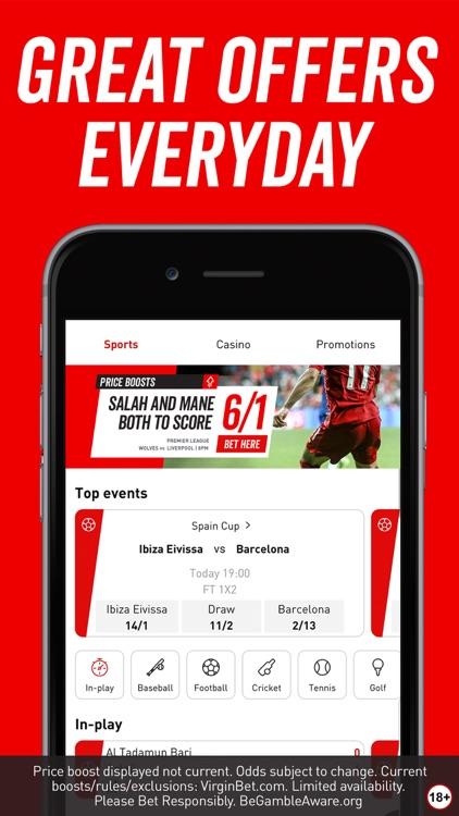Virgin Bet: Sports Betting App screenshot-0