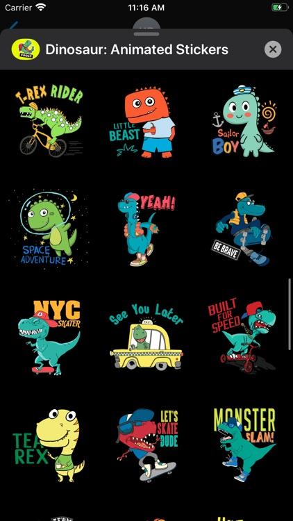Dinosaur: Animated Stickers screenshot-5