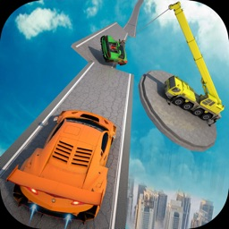 Mega Ramp Stunt Racing Car