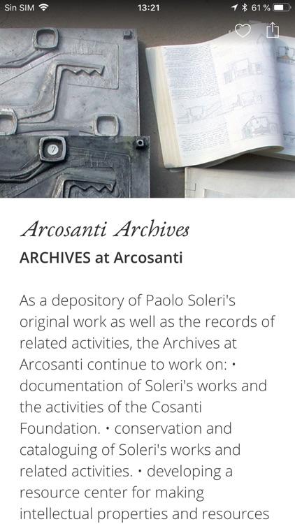 SC Arcosanti Archives