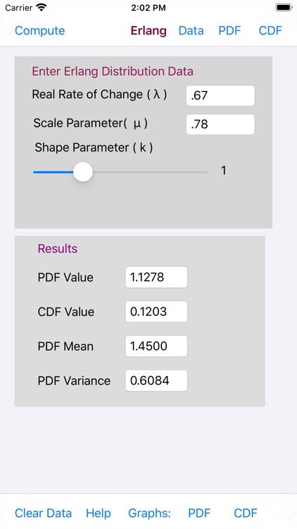 Erlang Distribution screenshot-4