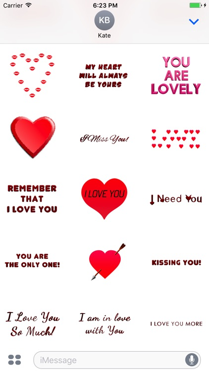 Love Stickers for Messages screenshot-3