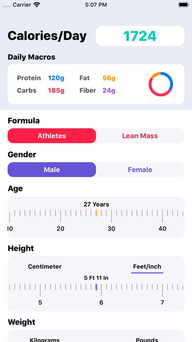 IIFYM Macro/Calorie Calculatorのおすすめ画像1