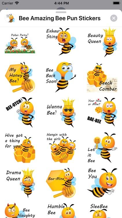 Bee Amazing Bee Pun Stickers