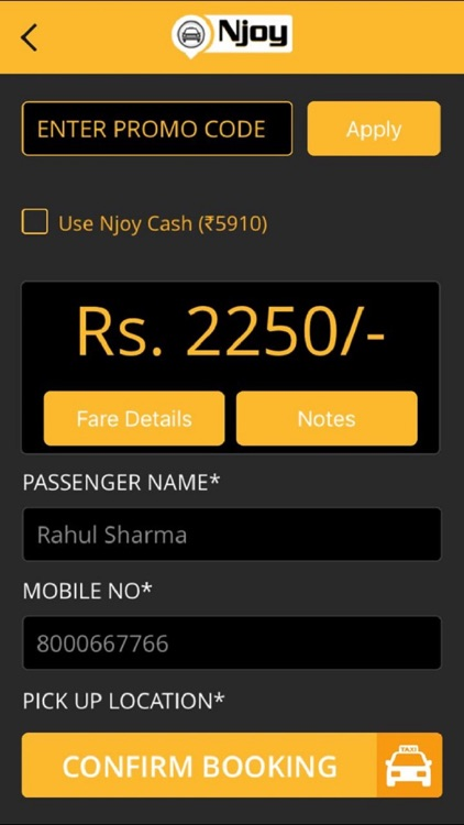 Njoy Cabs - Outstation Taxi screenshot-4