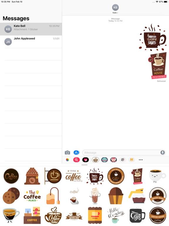 Hot Coffee Stickers screenshot #1
