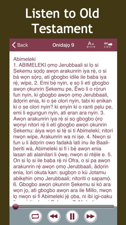 Yoruba Audio Bible screenshot-1