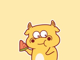 Yellow Bull Animated Stickers